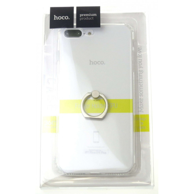 hoco. transparent smartphone cover with finger holder for