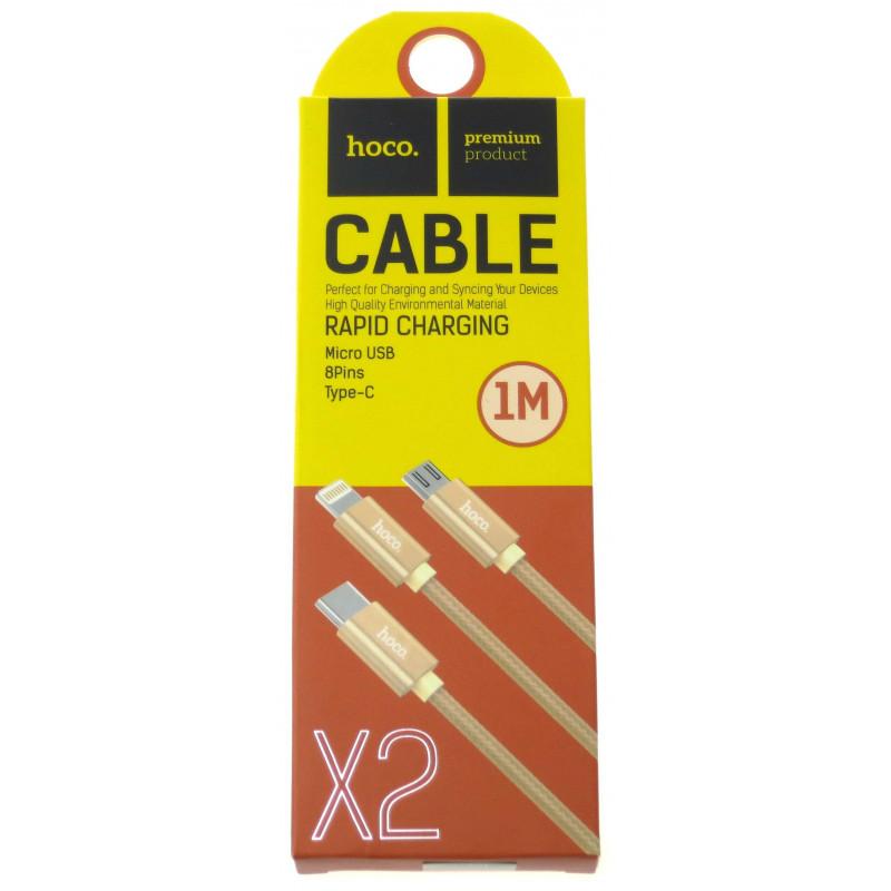 hoco. X2 nabíjací kábel 3v1