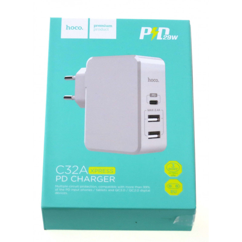 hoco. C32A 3in1 fast charger