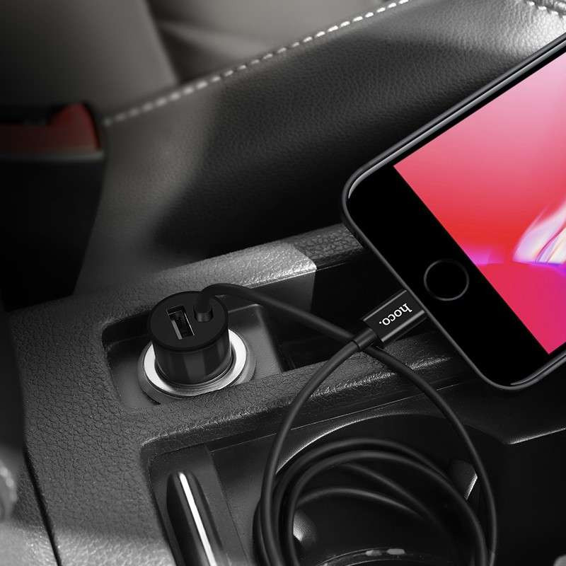 hoco. Z17 lightning car charger with USB port