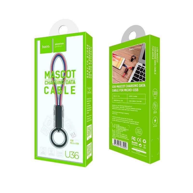 Original hoco. U36 microUSB charging data cable red