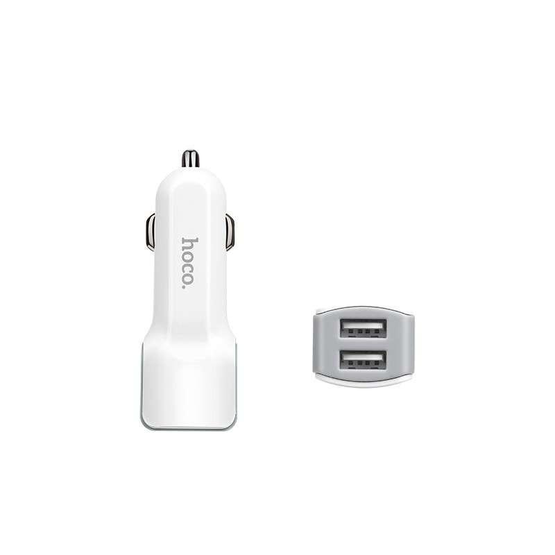 hoco. Z23 dual USB autonabíjačka s lightning káblom