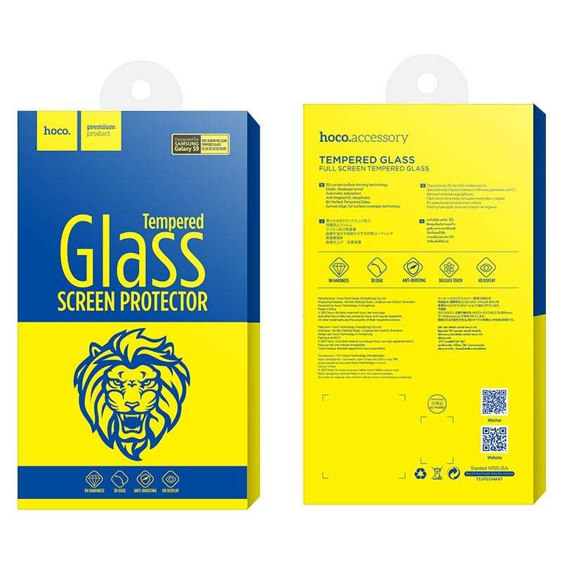 hoco. tempered glass for Samsung Galaxy S9 G960F