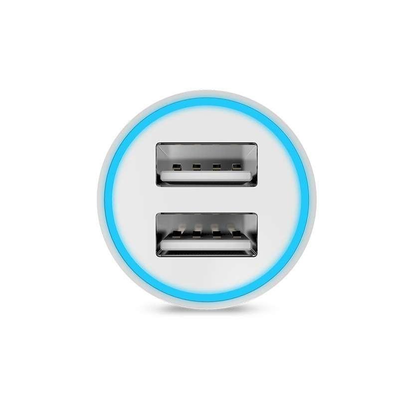 Originál dual USB autonabíjačka hoco. UC204 čierna, biela