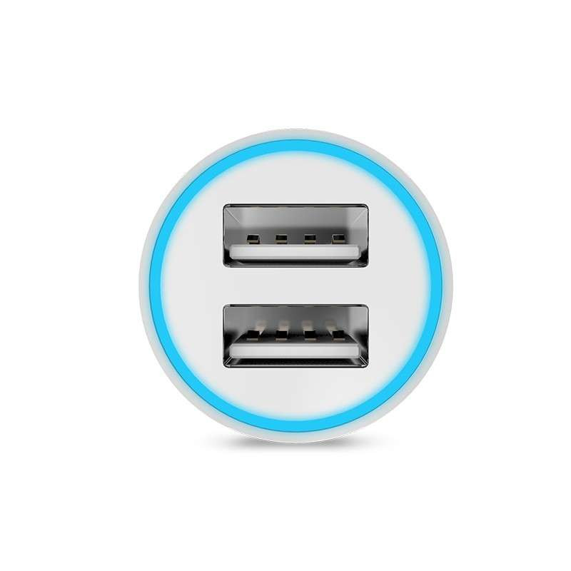 Original hoco. UC204 dual USB car charger black, white