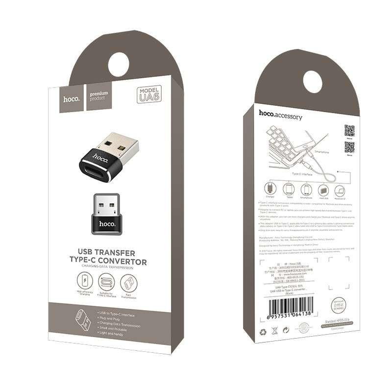 hoco. UA6 convertor USB to type-c