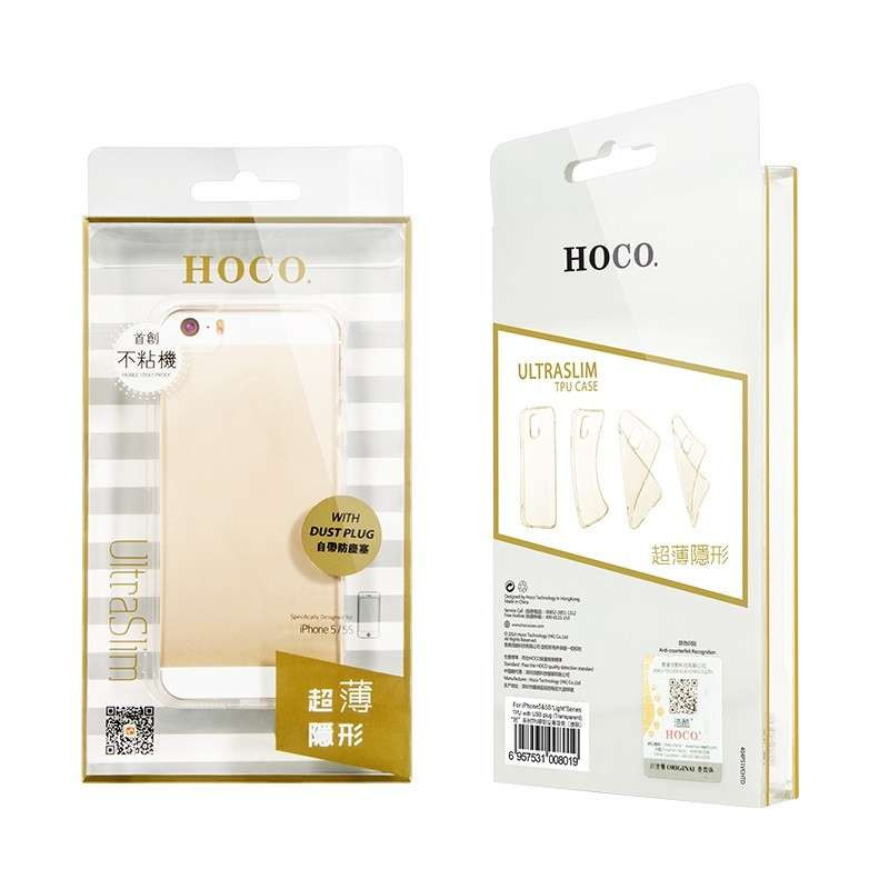 hoco. transparentný obal na telefón pre iPhone 5/5S/SE