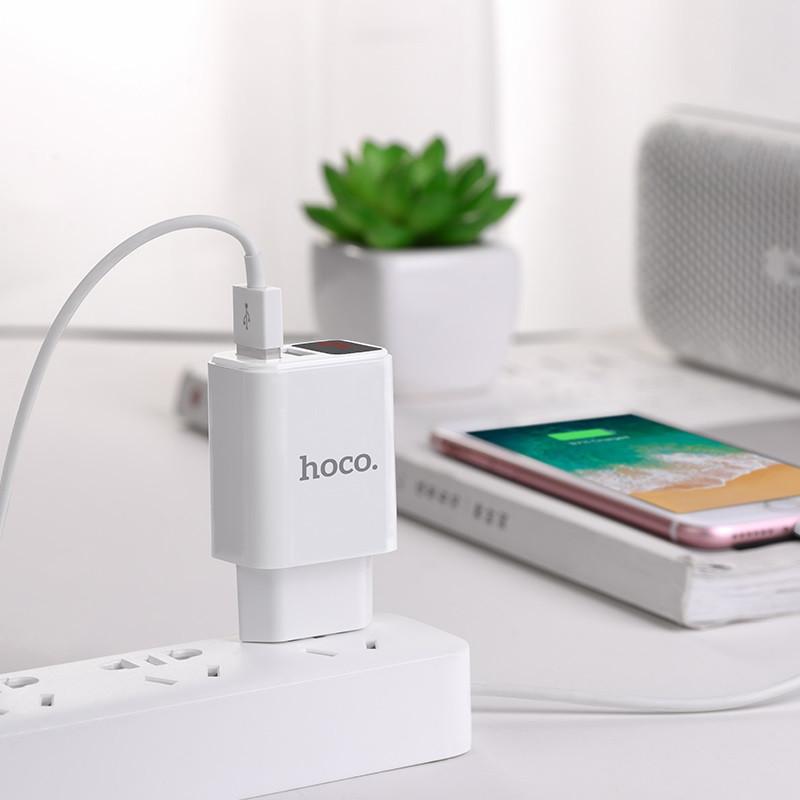 Original hoco. C63A dual USB charger white