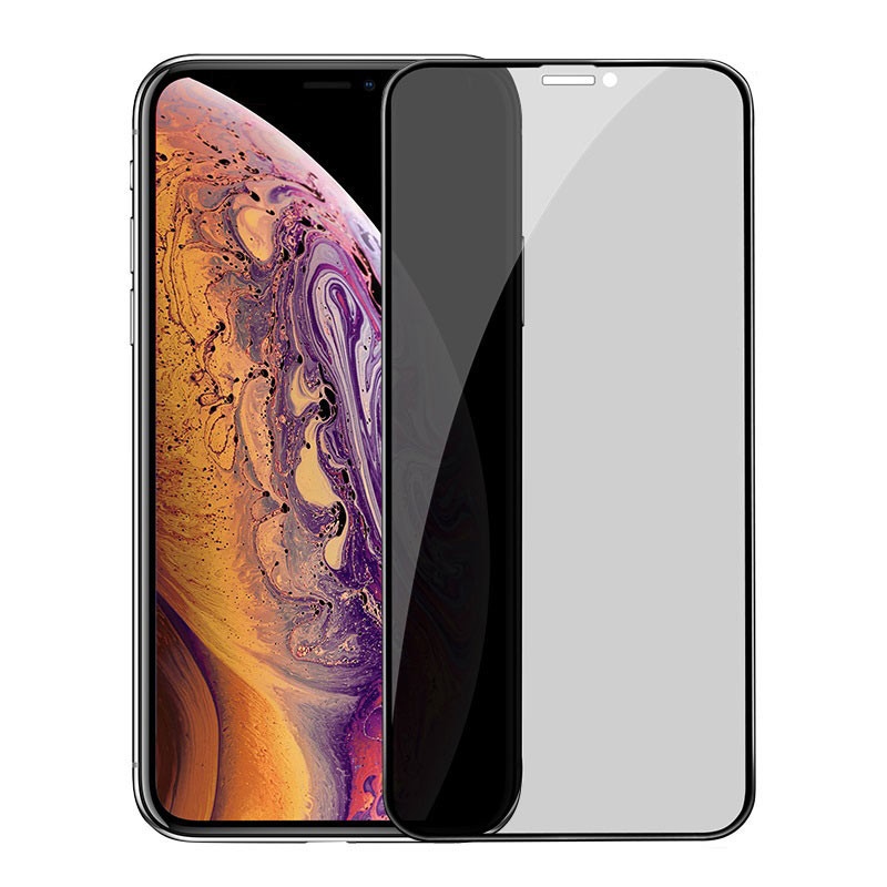 Original hoco. tempered glass anti-spy for iPhone Xs Max black