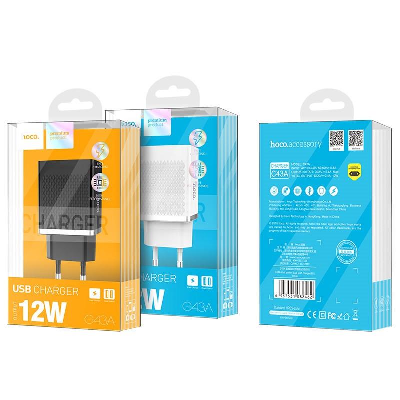 hoco. C43A 12W dual USB rýchlonabíjačka