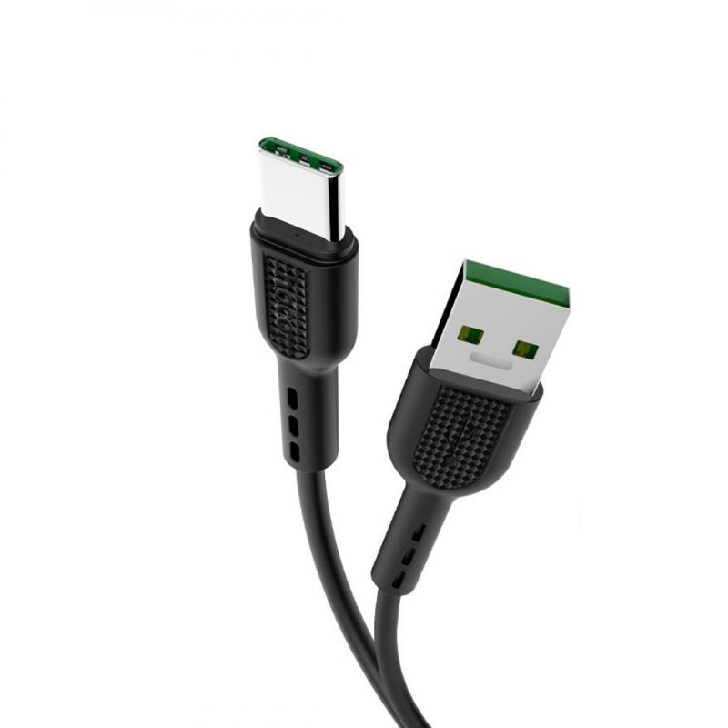 Originál type-c rýchlonabíjací kábel hoco. X33 čierna, biela