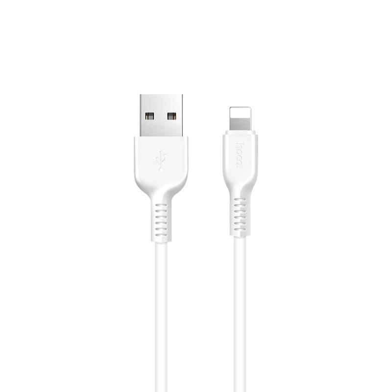Original hoco. X13 lightning cable 1m white, black