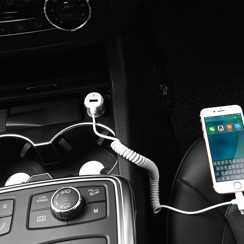 hoco. Z14 car charger with microUSB cable and USB port