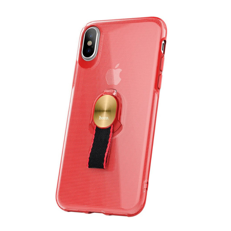 hoco. transparent smartphone cover with magnetic finger holder