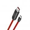 Originál nabíjací microUSB kábel hoco. U29 biela, červená