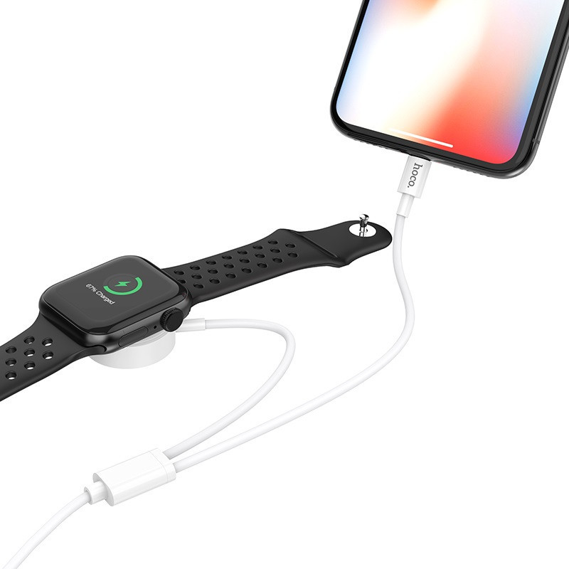 hoco. U69 2v1 charging cable for iPhone and Apple Watch
