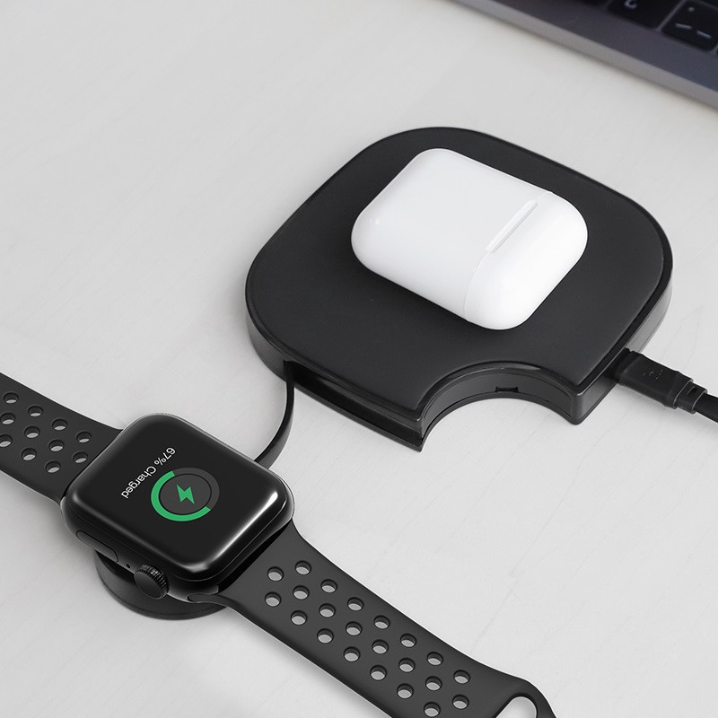 hoco. S5 2in1 wireless charger for smartphone and Apple Watch