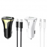 hoco. Z31A 18W fast charging car kit with lightning cable