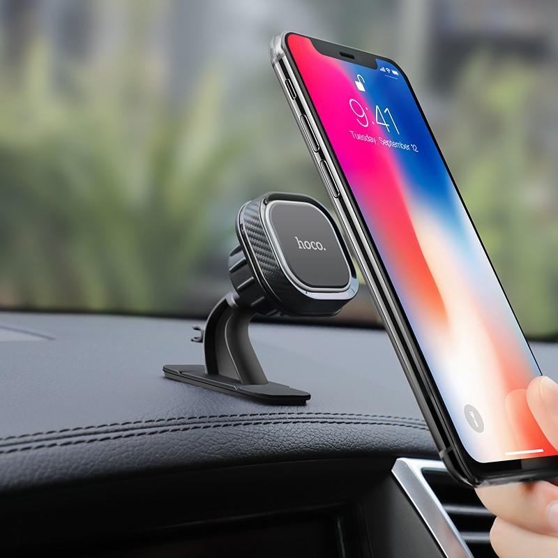 Originál magnetický držiak na smartfón do auta hoco. CA53 čierna