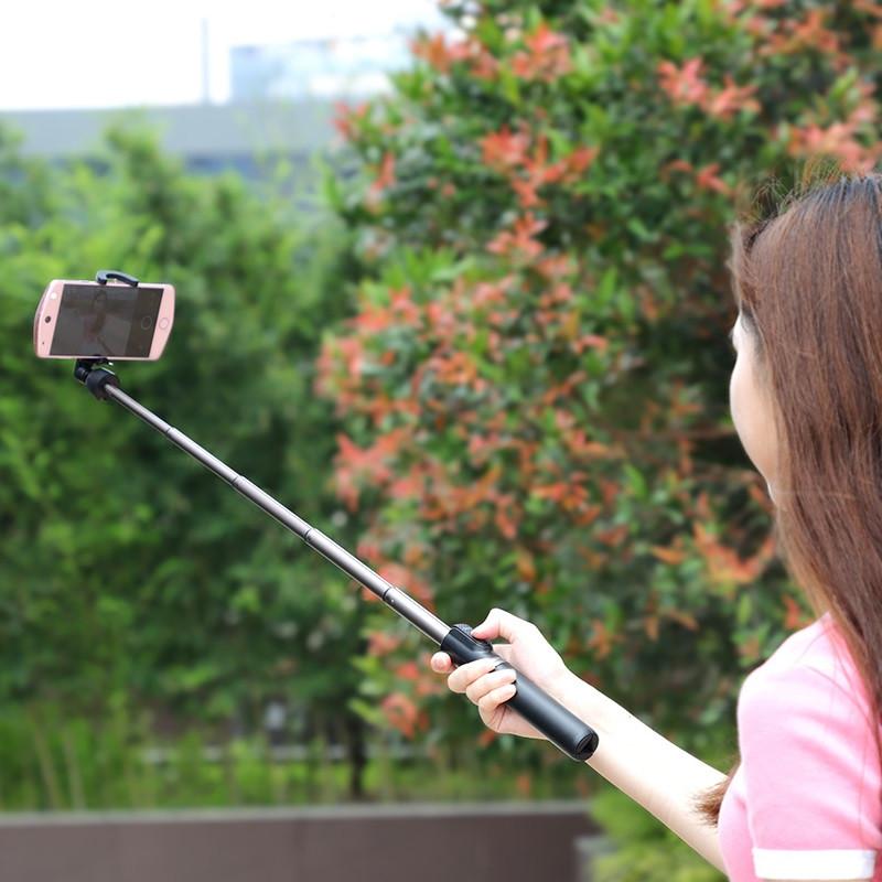 Originál 2v1 bezdrôtový tripod a selfie tyč hoco. K11 ružová