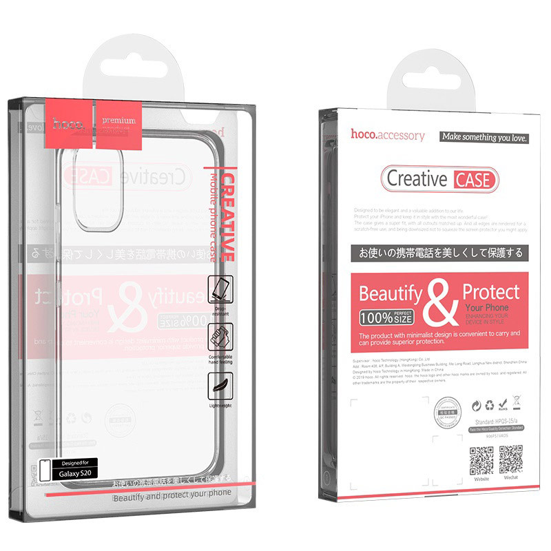 Original hoco. transparent smartphone cover light series for