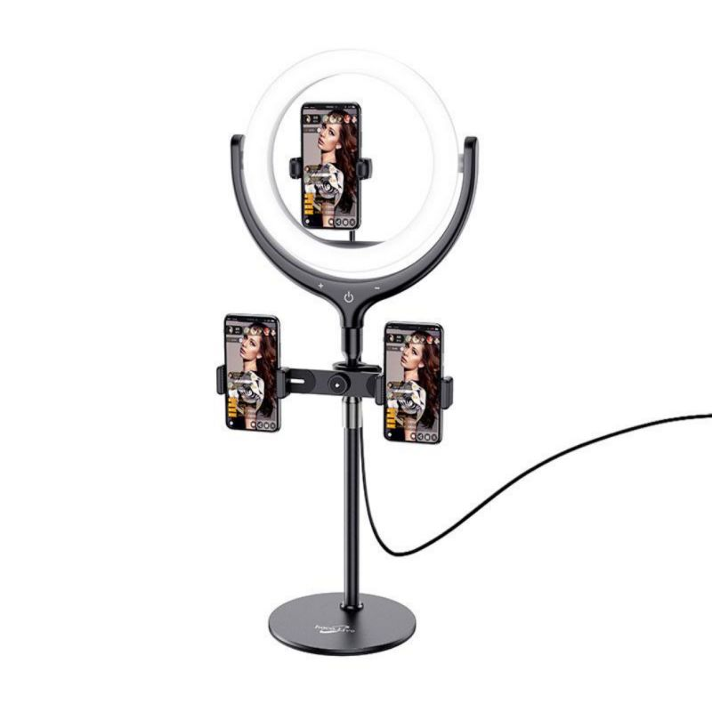 hoco. LV01 desktop holder with ring light