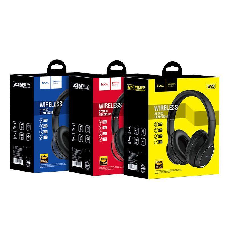 Original hoco. W28 wireless headset blue, black