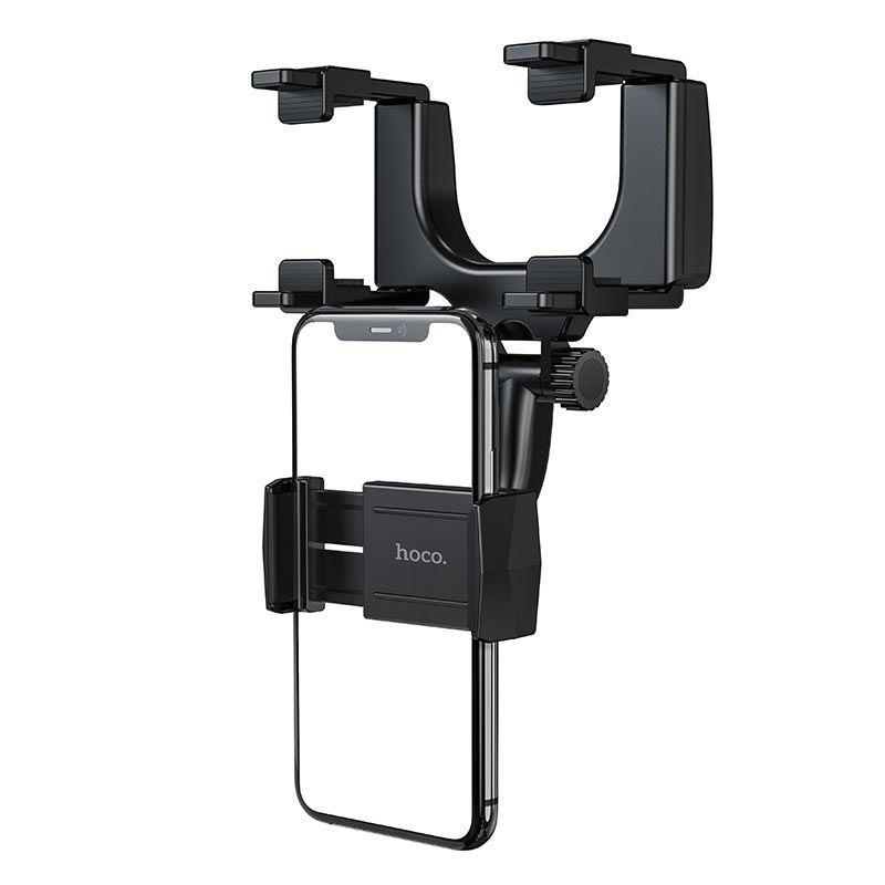 Originál držiak na smartfón na spätné zrkadlo hoco. CA70 čierna