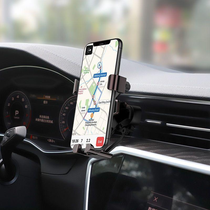 Originál držiak na smartfón do ventilácie auta hoco. S25 čierna