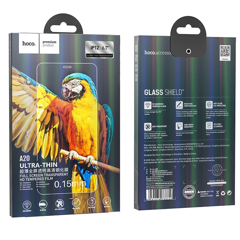 hoco. protective tempered film A20 full-screen flash attach HD