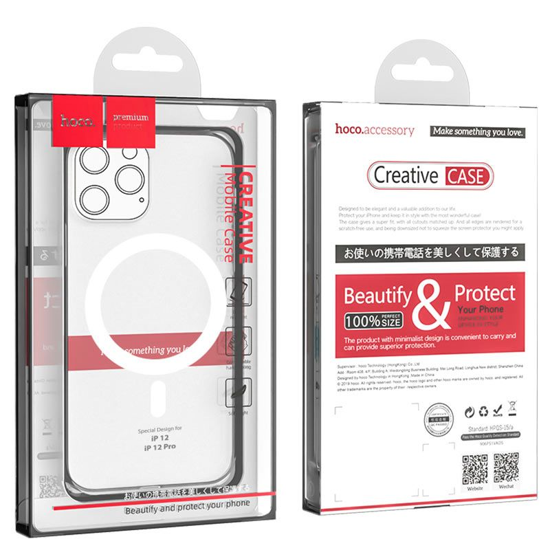 Original hoco. transparent magnetic cover for MagSafe charging