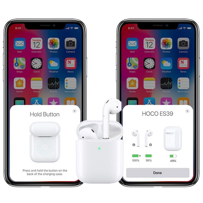 Original hoco. ES39 wireless earphones white