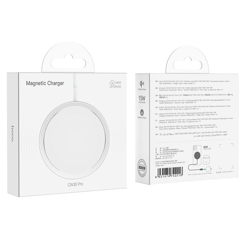 Original hoco. CW30 Pro 15W magnetic wireless fast charger