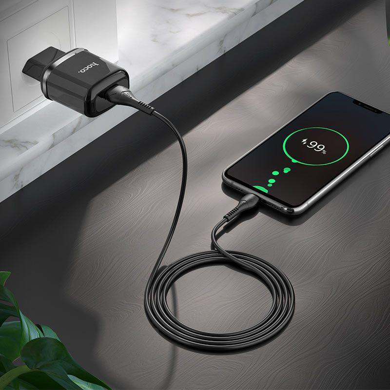 Original hoco. N3 18W fast charger black