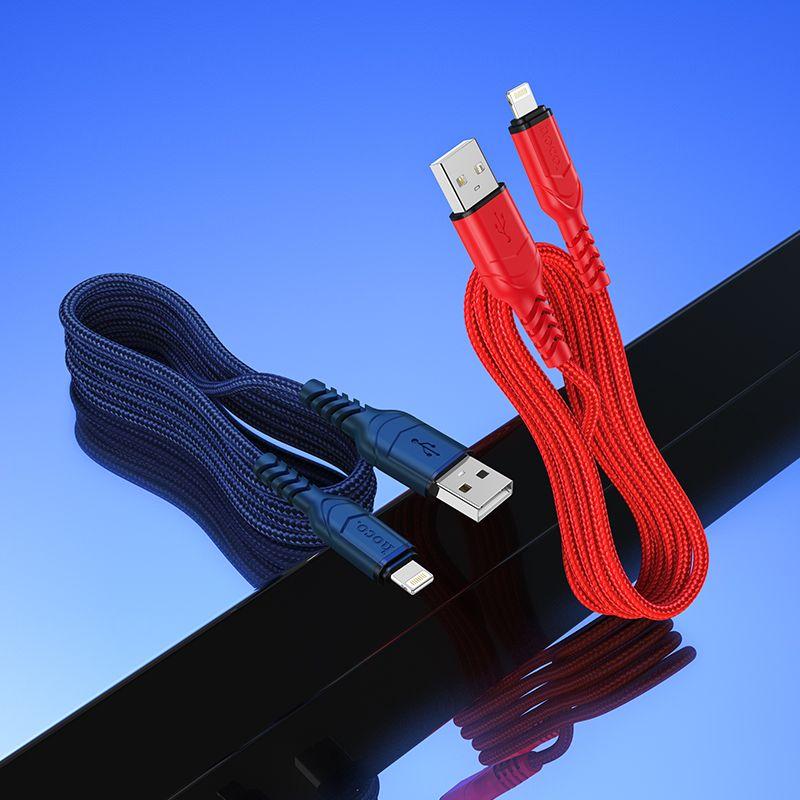 Originál nabíjací lightning kábel 1m hoco. X59 modrá, čierna
