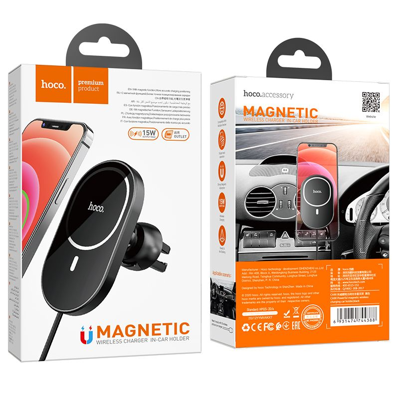 Original hoco. CA90 2in1 car holder and wireless fast charger
