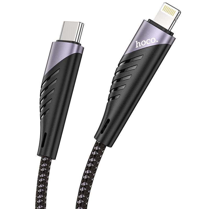 Originál 20W PD nabíjací lightning na type-c kábel 1,2 m hoco.